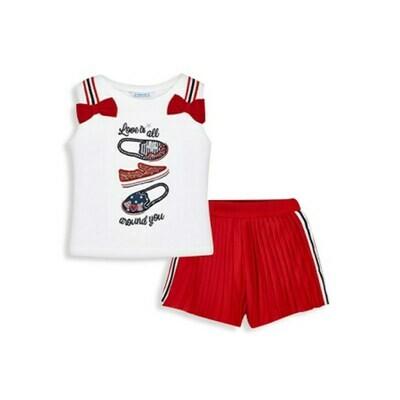 Pleated Shorts Set 3215 - 2