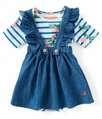 Chambray Romper Set 9-12m
