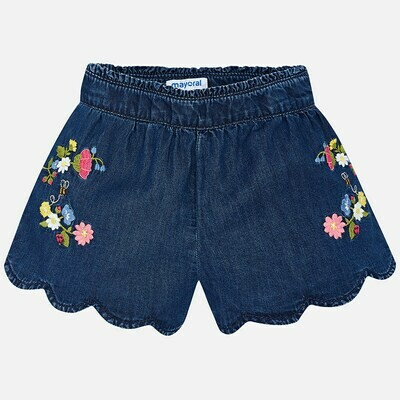 Embroidered Denim Shorts 3222 7