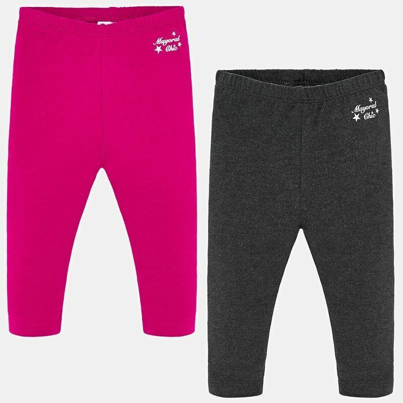 Pink/Grey Leggings 702 - 12m