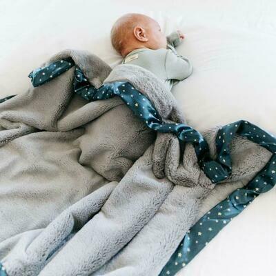Navy Twinkle Star Lush Blanket