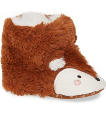 Fox Slippers 3/6m