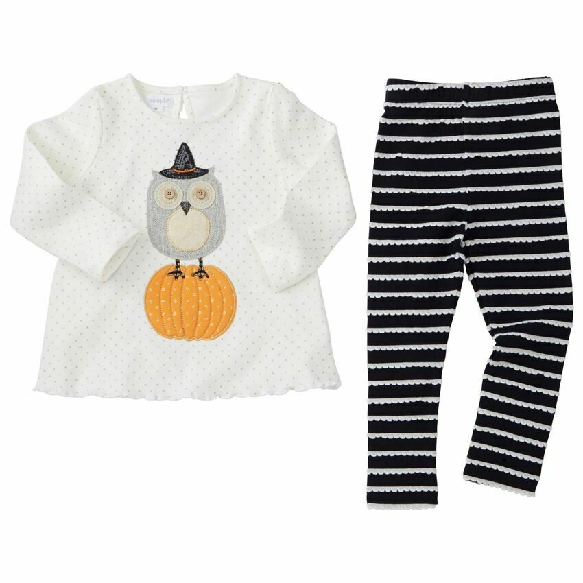 Owl Legging Set 24m/2T
