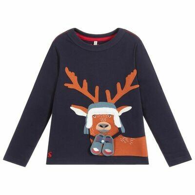 Navy Deer Shirt 4y