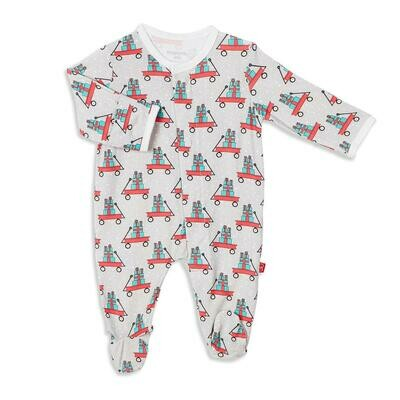 Lil Red Wagon Footie 6/9m