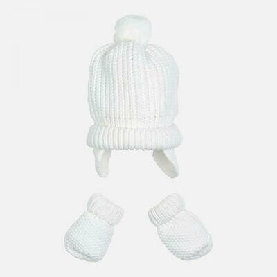 White Hat & Mitten Set 9608 - 6m