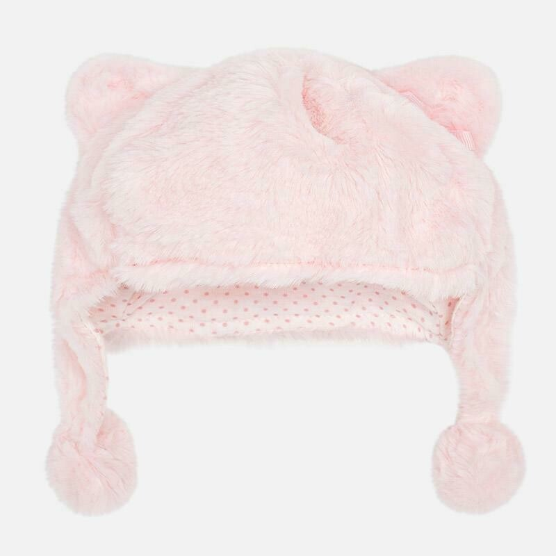 Pink Fur Hat 9908 12m