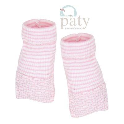 Pink Pinstripe Booties