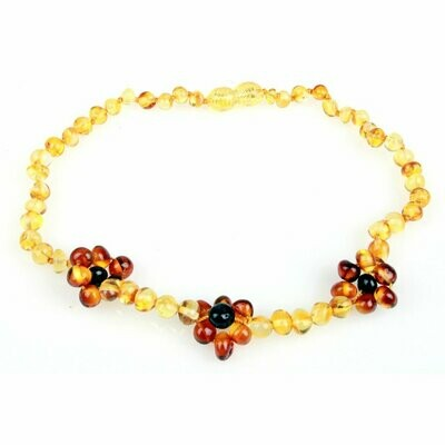 Flower Amber Necklace