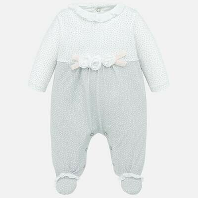 Grey Dot Romper 1752 12m