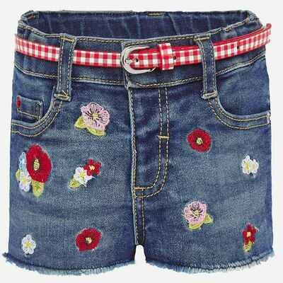 Embroidered Denim Shorts 1203 12m