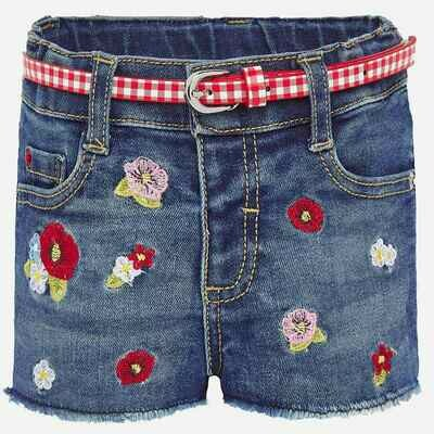 Embroidered Denim Shorts 1203 24m