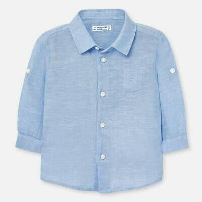 Blue Linen Shirt 117 6m
