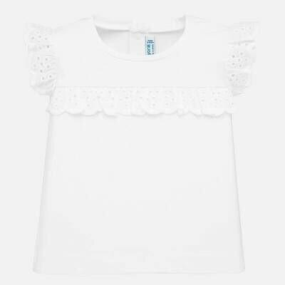 White Ruffled T-Shirt 1061 6m