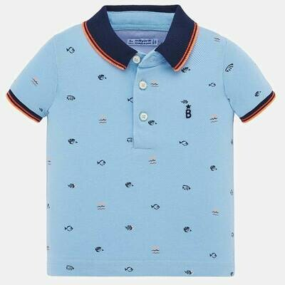 Fish Print Polo Shirt 1153 6m