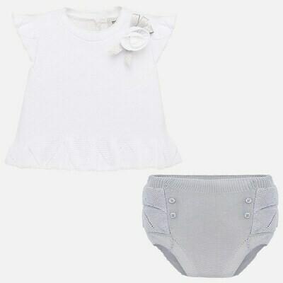 Grey Diaper Set 1255 6/9m