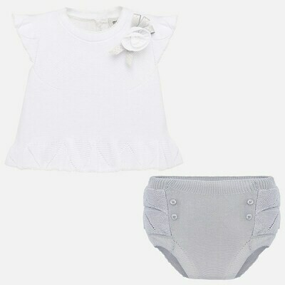 Grey Diaper Set 1255 4/6m
