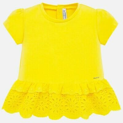 Yellow Eyelet Shirt 1062 6m