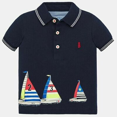 Navy Sailboat Polo 1149 6m