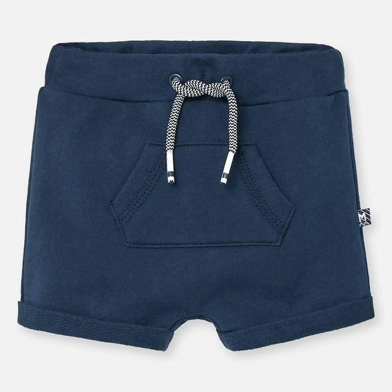 Navy Fleece Shorts 1264 2/4m