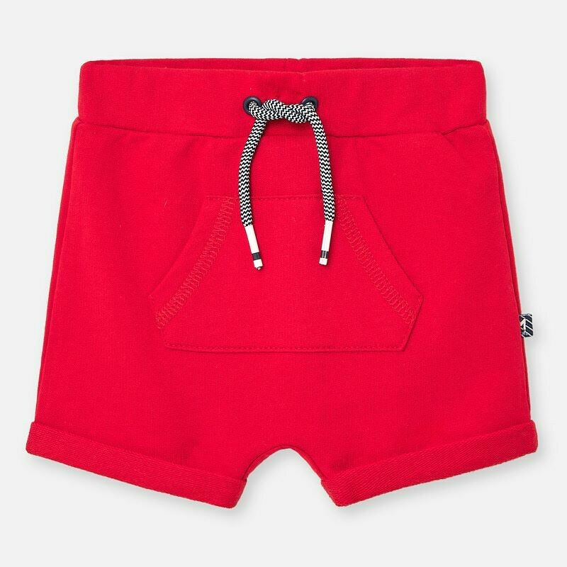 Red Fleece Shorts 1264 6/9m
