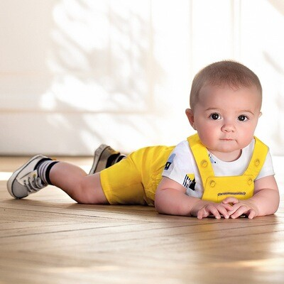 Yellow Overalls Set 1681 4/6m