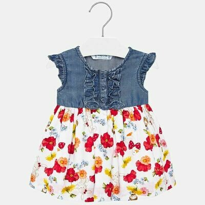 Denim Floral Dress 1937 18m