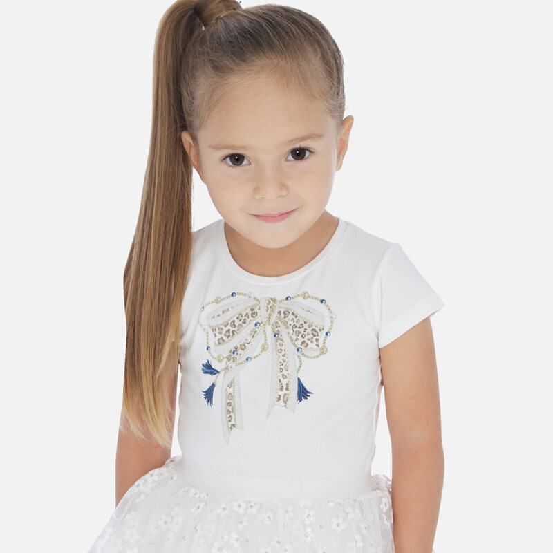 White Bow T-Shirt 3007 8
