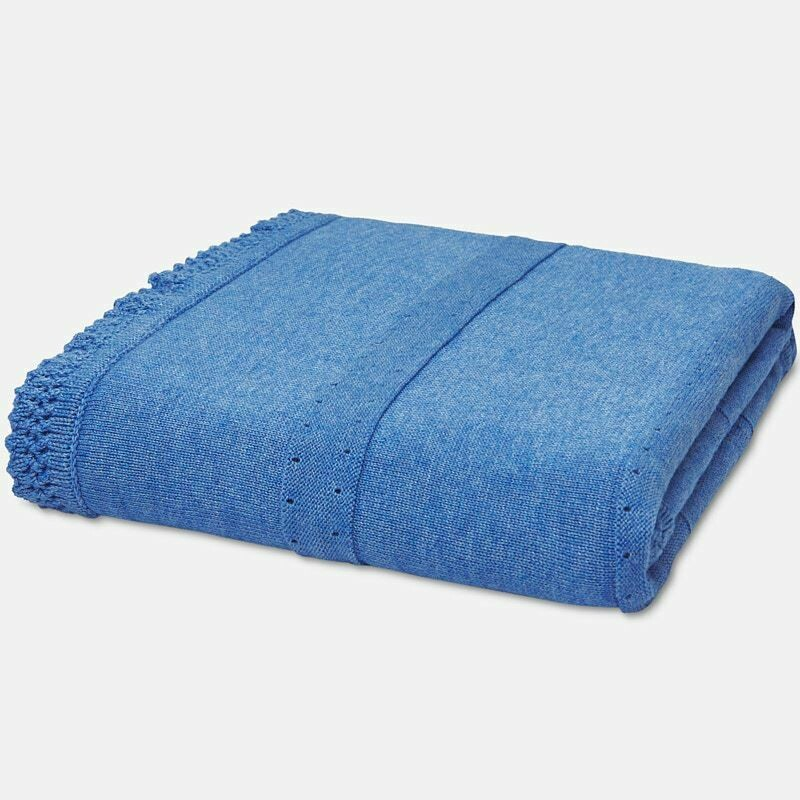 Blue Knit Blanket 9657