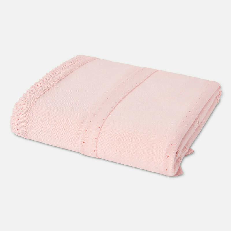 Pink Knit Blanket 9657