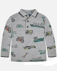 Long Sleeve  Polo Shirt 4116H-7