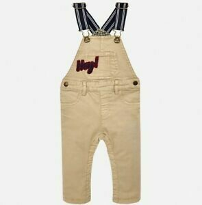 Tan Lined Long Overalls 2666 12m