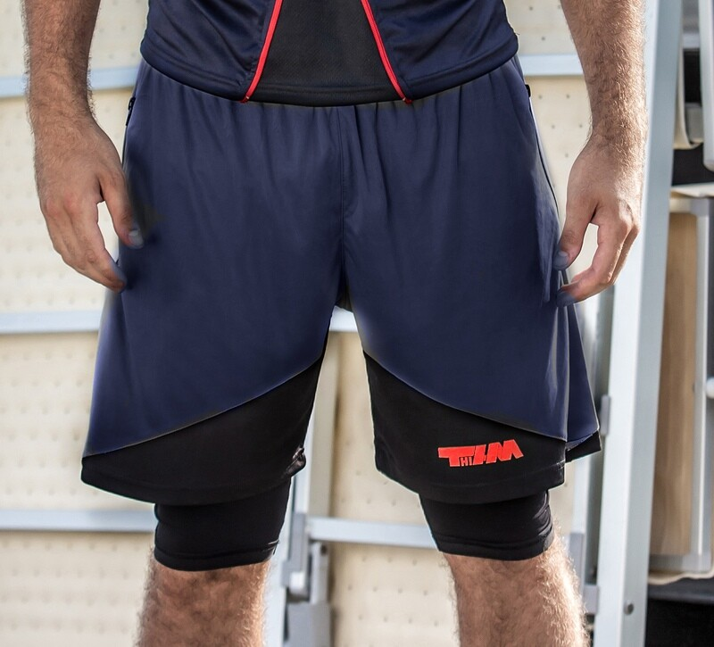 Double pants-leggins blue-black