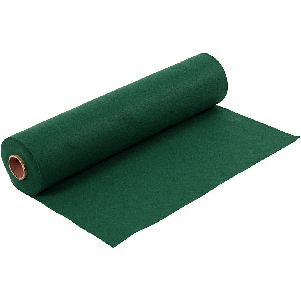 Felt - Dark Green (FULL 5 METRE ROLL) W:45cm, thickness 1,5 mm, 180-200 g/m2