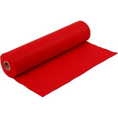 Felt - Bright Red (by the metre) W:45cm, thickness 1,5 mm, 180-200 g/m2