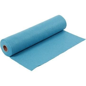 Felt - Turquoise (FULL 5 METRE ROLL) W:45cm, thickness 1,5 mm, 180-200 g/m2
