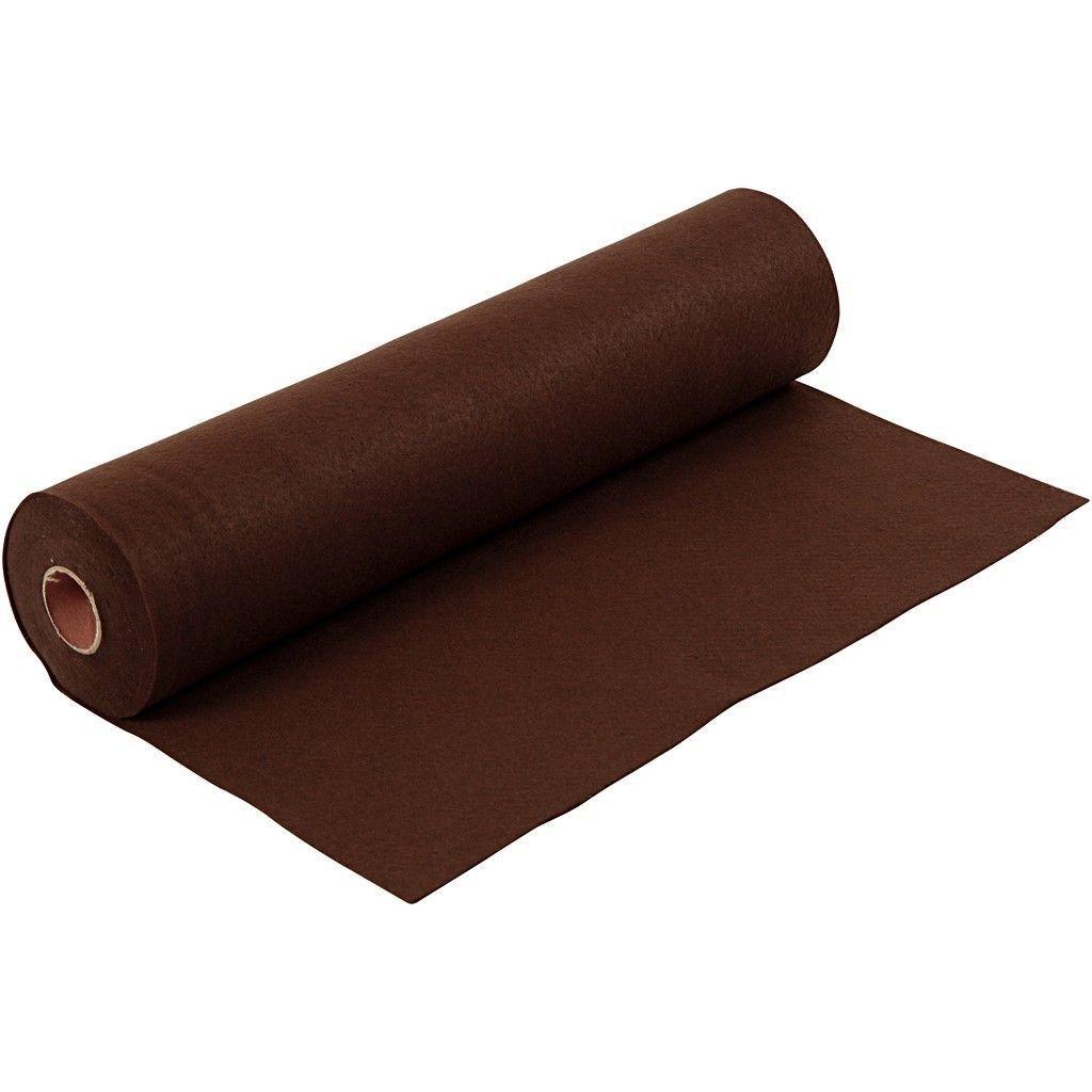 Felt - Dark Brown (FULL 5 METRE ROLL) W:45cm, thickness 1,5 mm, 180-200 g/m2