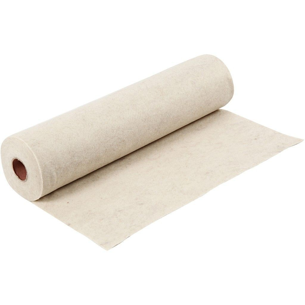 Felt - Mottled Beige/Oatmeal (by the metre) W:45cm, thickness 1,5 mm, 180-200 g/m2