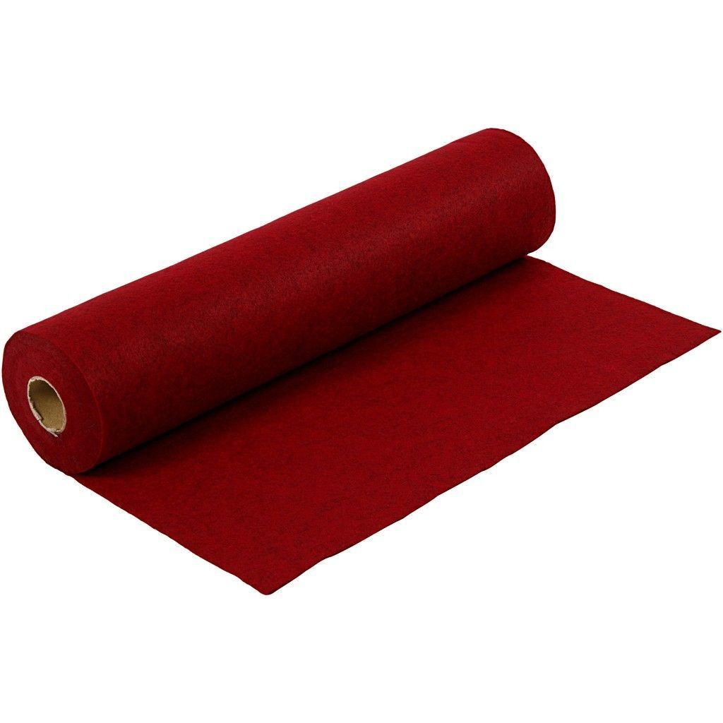Felt - Mottled Red (FULL 5 METRE ROLL) W:45cm, thickness 1,5 mm, 180-200 g/m2