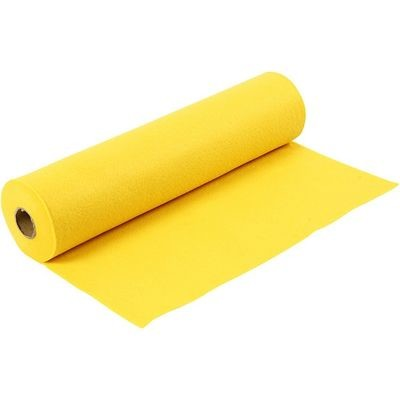 Felt - Yellow (by the metre) W:45cm, thickness 1,5 mm, 180-200 g/m2