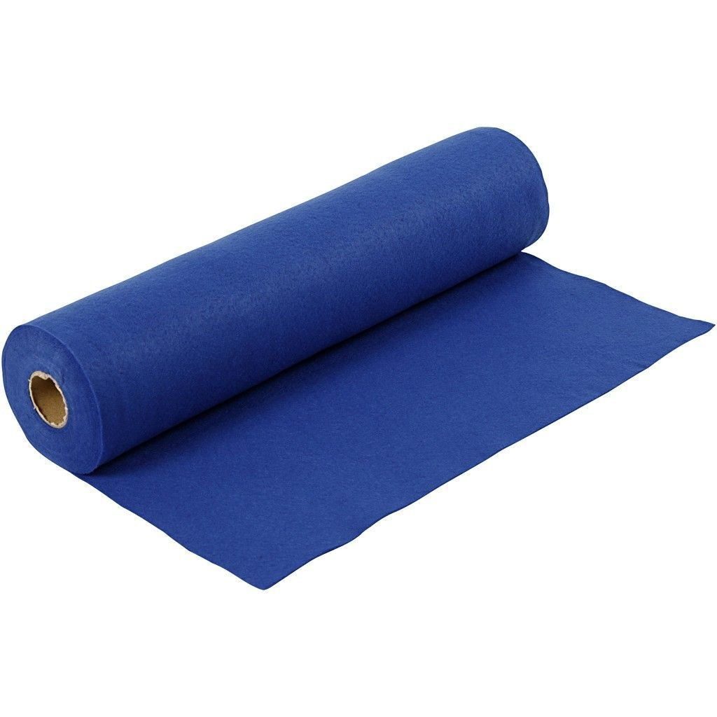Felt - Dark Blue (FULL 5 METRE ROLL) W:45cm, thickness 1,5 mm, 180-200 g/m2