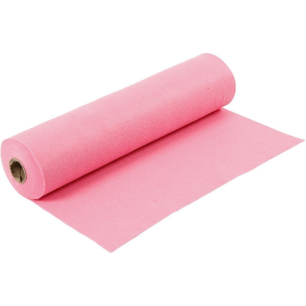 Felt - Pink (by the metre) W:45cm, thickness 1,5 mm, 180-200 g/m2