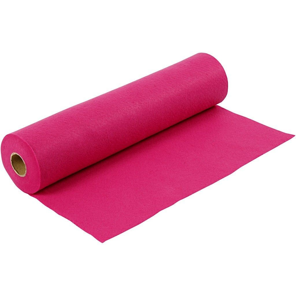 Felt - Cerise (by the metre) W:45cm, thickness 1,5 mm, 180-200 g/m2