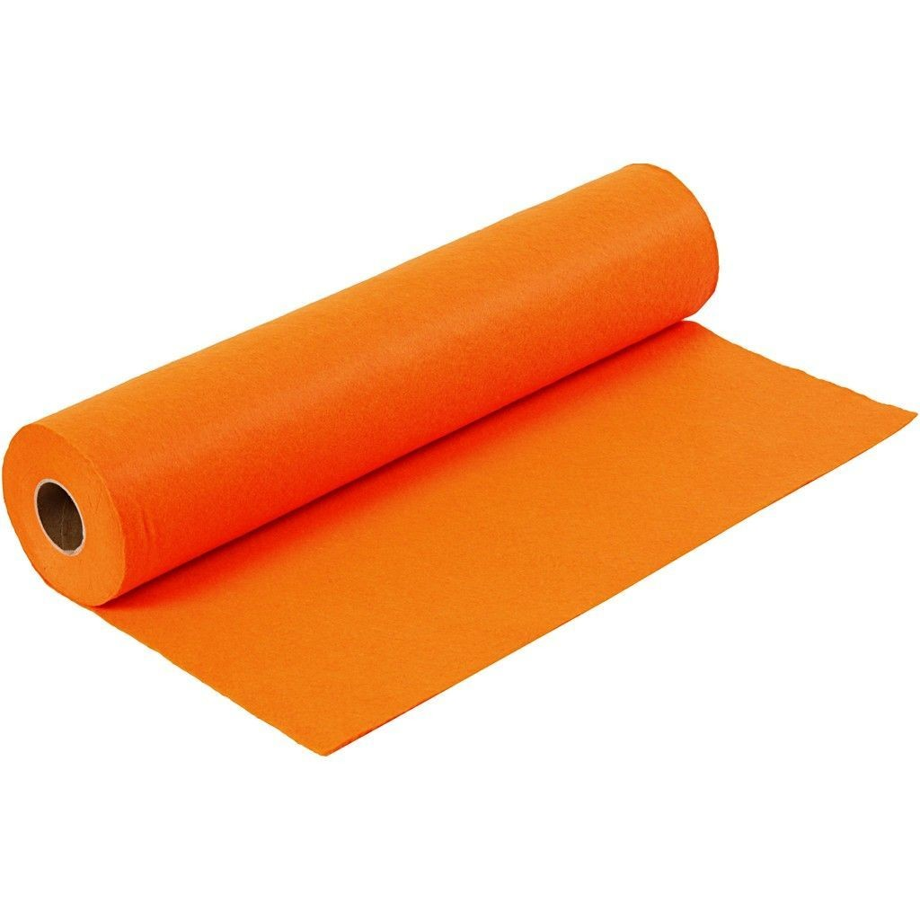 Felt - Orange (by the metre) W:45cm, thickness 1,5 mm, 180-200 g/m2