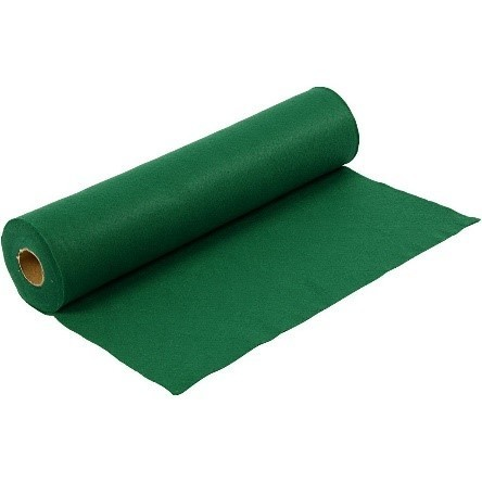 Felt - Green (FULL 5 METRE ROLL) W:45cm, thickness 1,5 mm, 180-200 g/m2