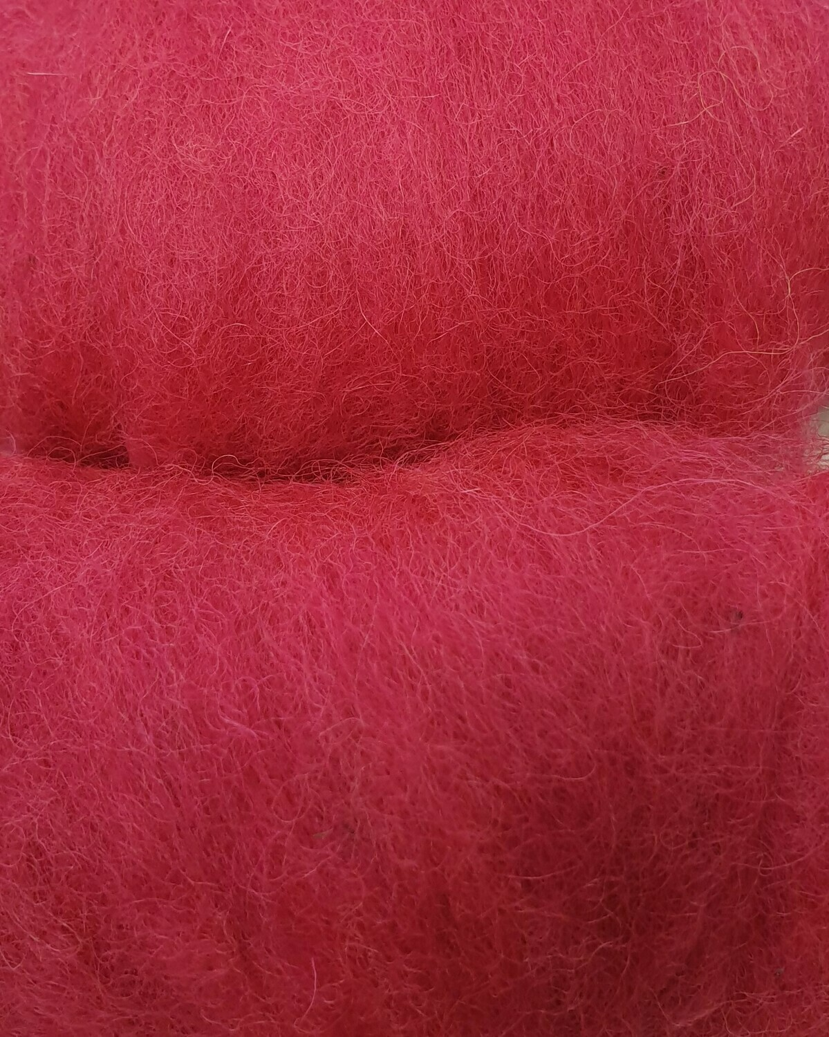Carded Felting Wool  20 g - Bright Pink