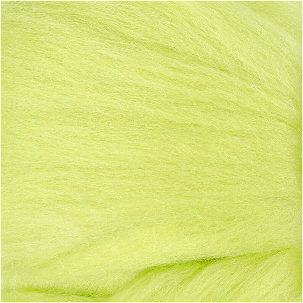 100% Merino Felting Wool - Lime Green - 25g
