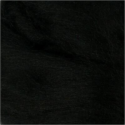 100% Merino Felting Wool - Black - 25g