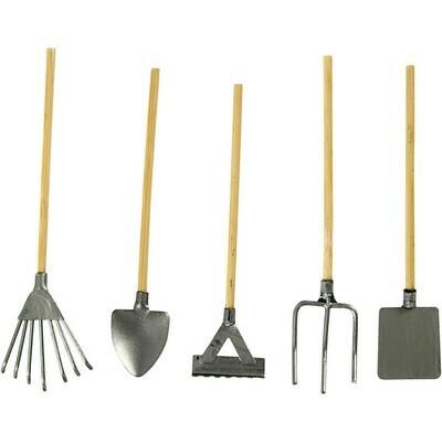 Mini Garden Tools, L 11 cm, 5pcs