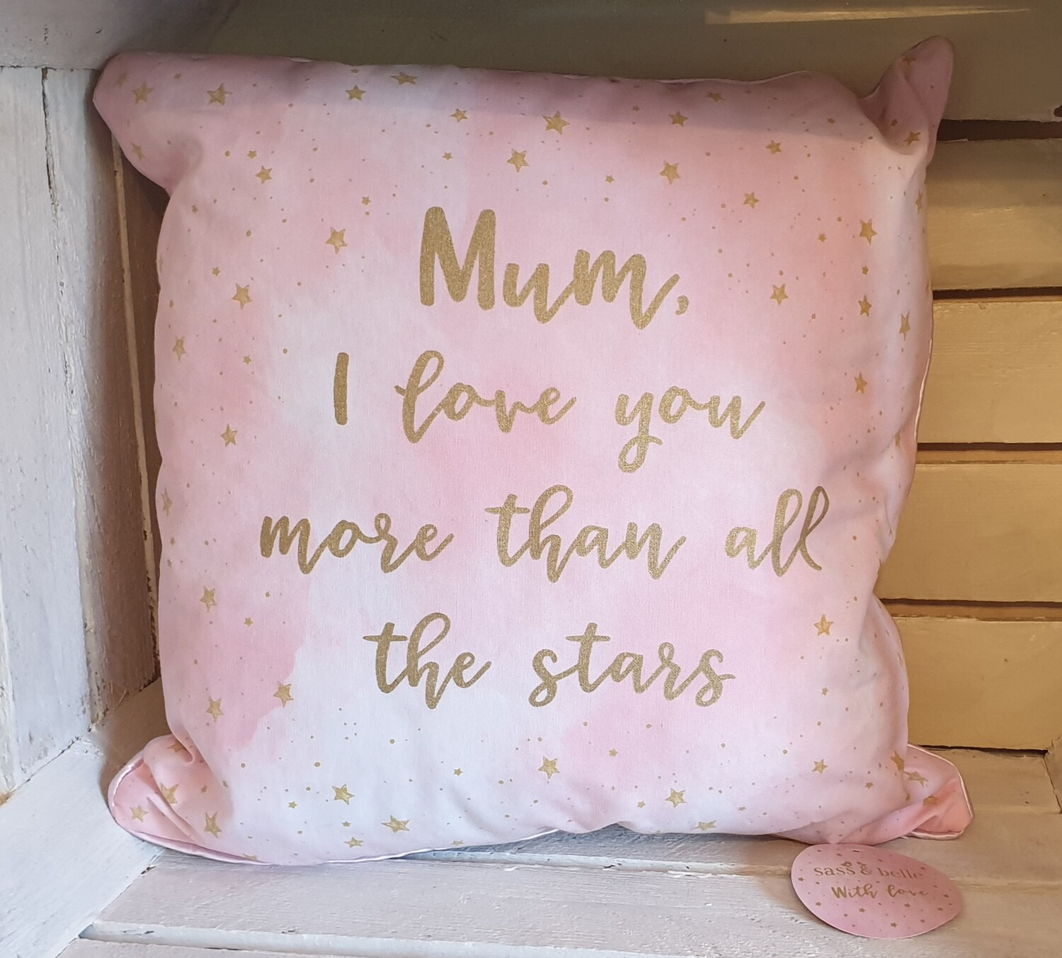 Sasse & Bell Scattered Stars Mum I Love You Cushion